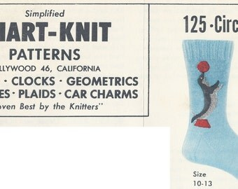 Chart-Knit Sock Pattern 125-Circus Seals