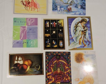 Christmas Cards Variety with Scripture Vintage