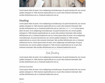 Premade Blogger Template Responsive Minimal Blogspot for Lifestyle, Fashion, Book, Travel, Food Blogger with Free Installation - Indulgent