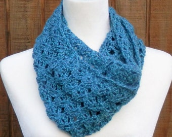 Teal/ Light Blue Infinity Scarf