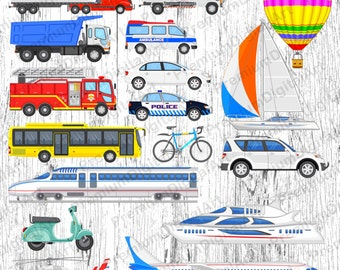 17 Cars Clipart,Digital car,balloon clipart,airplane clipart,helicopter clipart,convertible car clipart,retro car clipart,scrapbooking clip