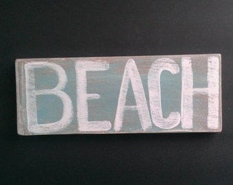 Wooden coastal sign beach plaque nautical wall art decoration
