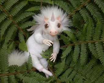 Unicorn art doll. ooak