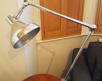 Polished 1950s Jumo articulated desk lamp: PAT tested and rewired