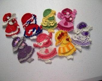 Sun Bonnet Sue Fridgie Magnets