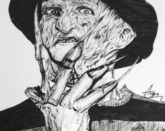 Portrait Freddy Krueger - Claws of the night A3