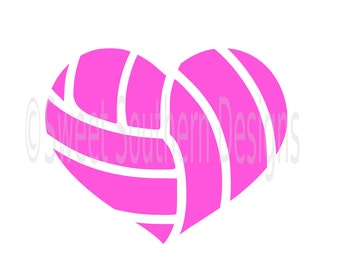 Volleyball heart SVG instant download design for cricut or silhouette