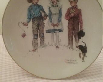 Norman Rockwell Plates 1975