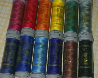 Presencia, 100% Cotton Quilting Thread ~ 50 Weight ~ 100 Meters ~ Bag of 6 or 12