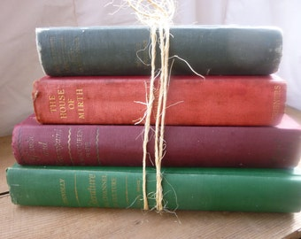 Vintage Decorative Book Stack
