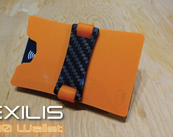 Bright Orange Dual-Plate G10 Wallet, Slim Wallet, Minimalist Wallet, Money Clip, Credit Card Holder, EXILIS Wallet