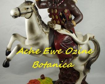 Chango on HORSE, Orisha Shango, STATUE, 16 inches TALL, Santeria