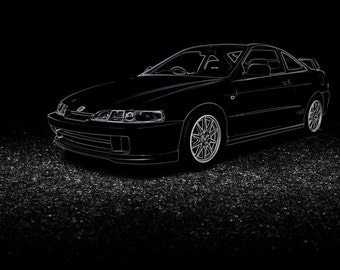 Honda Integra Type R DC2 Poster - 4 sizes
