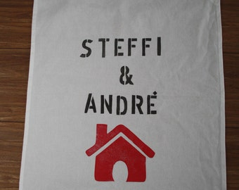 Tea towel personalized Gift for houseworming