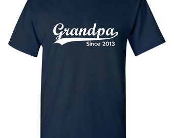 Grandpa Customized Grandpa T Shirt WIth Your Choice of Year Great gift for grandpa fathers day gift, gift for dad shirt for dad