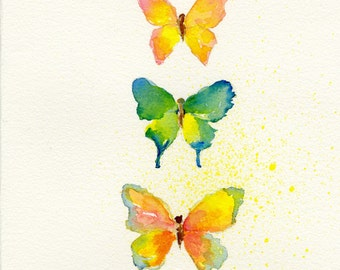Butterfly Art Print of Original Watercolor Painting