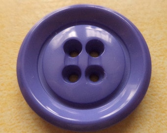 6 large buttons of Blue-Lilac mix 26mm (4943) button