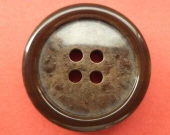 8 dark brown buttons 23mm (5500) button Brown
