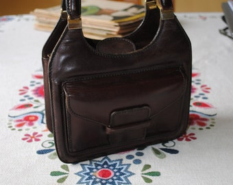 Leather brown bag 1940