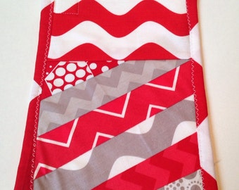 Red place mat - Red and white snack mat - snack mat - mini place mat - mug rug - oversize coaster
