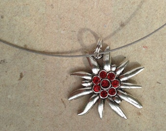 Necklace Edelweiss red