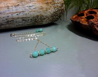 Amazonite - 925 Silver necklace
