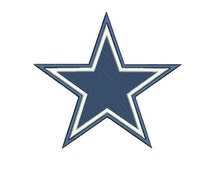 NFL logo - Dallas cowboys logo embroidery design - Football logo embroidery - Machine embroidery digital design - INSTANT download -6 SIZE