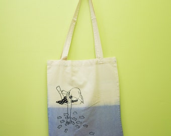 Tote bag In the water