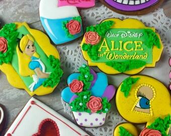 Alice in Wonderland Tea Party Cookies (One dozen)