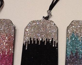 Black & Silver Swarovski Crystal Phone Case