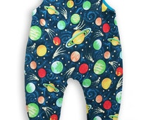Shooting Stars in Space Baby Dungarees Romper