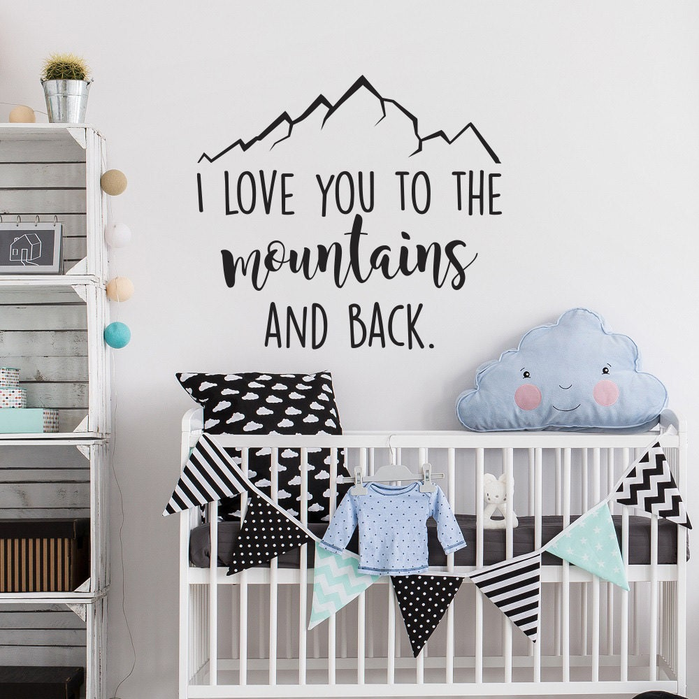 Mountain wall decal i love you to the mountains and back description mountain wall decal amipublicfo Choice Image