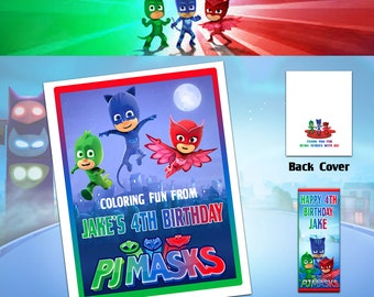 PJ Masks Coloring Book with Crayons