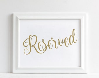 Reserved Sign Reserved Wedding Sign Reserved Wedding Sign DIY Bohemian Wedding Decor Floral Wedding Decor Floral Wedding Decor