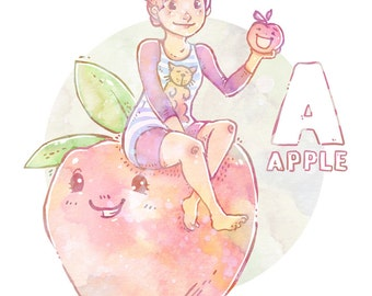 A is for Apple! - Art Print