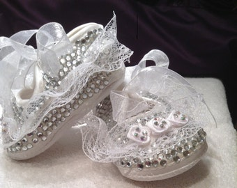 fairy christening shoes 0\3 mnth 0\6 mnth