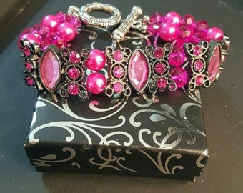 Gorgeous hot pink bracelet