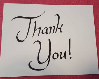 Handwritten Thank You Cards - Set of 5