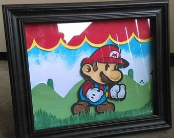 Paper Mario - Framed Collage