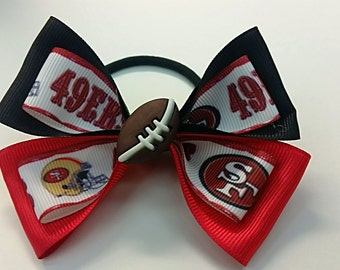 49er Hair Tie Bow