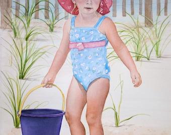 Custom Watercolor Portrait   Child Portrait   Commission Portrait Painting