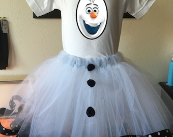 Olof Frozen Inspired  Christmas Tutu Set, for Holidays, events, dressup, playdates, Birthdays, Pageants, Dance,  Onesie, Toddler