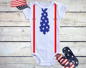 Baby Boy Fourth of July Outfit / Fourth of July Onesie®/ July 4th Outfit Baby Boy / Labor Day Onesie®/ America Onesie®