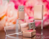 Single ROSE GOLD crystal 16gb flash drive