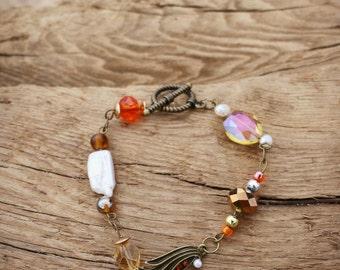 Bonny Orange Link Bracelet