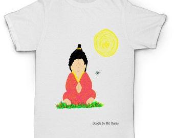 Buddha Peace and Gratitude Men's T Shirt - Yoga/Gym/Casual T Shirt