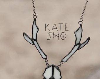 Deer Skull, Deer necklace, Shaman necklace, Boho necklace, Occult jewelry, Skull, Deer, Animals skull, Deer skull necklace