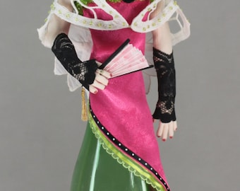Bottle Doll, Stuffed Cotton, Needle felt, Art doll