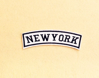New York Patch - Iron on patch -Sew On patch - Embroidered Patch (Size 11.5cm x 3cm)