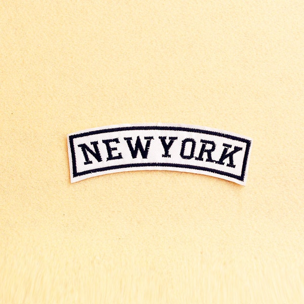New york patch iron on sew embroidered